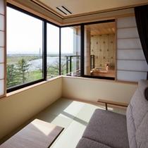 【展望露天風呂付 特別室(桂月)】和室2間 10畳+6畳 (56平方メートル)