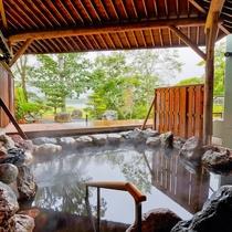 【十勝川を望む露天風呂】モール温泉と大自然の四季風景をお楽しみください。