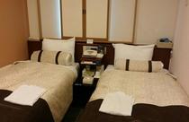 エコノミ-ツイン禁煙◇シングル部屋にベッド2つ