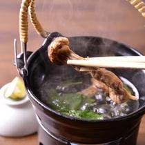 *お夕食一例(岩手産松茸土瓶蒸)