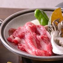 *お夕食一例(陶板焼き)