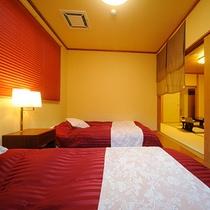 半露天風呂付客室【赤支子】和室8畳+4,5畳+ツインベッド