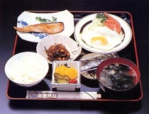 朝食例:和食