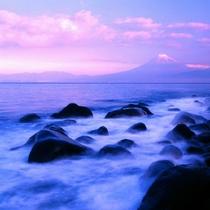 ■戸田港から望む富士①