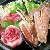 ■カニすき×但馬牛すき焼き鍋プラン