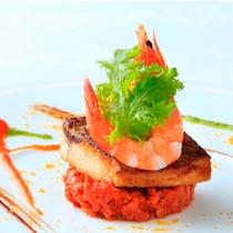 【Dinner】フレンチフルコース/メイン(魚)※一例