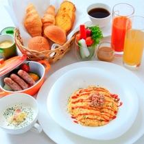 【朝食】地元産が詰まったこだわりの朝食