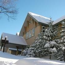 冬のホテル テラスからの眺め