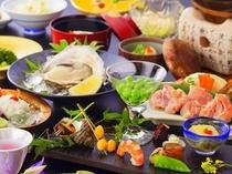 岩牡蠣と夏の彩り会席・昼
