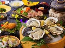 夏の岩牡蠣会席