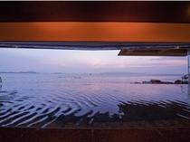 天海の湯・夕景