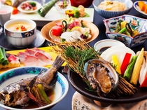 春野菜と鮑&地肴を味わうグルメ会席