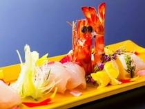 桜鯛と春野菜の会席・お造り
