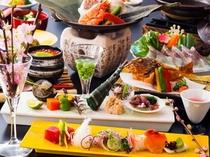 桜鯛と春野菜の会席