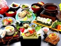 相生産岩牡蠣と夏野菜の彩り昼会席一例
