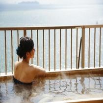 露天風呂客室から見た瀬戸内海