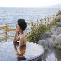 蒼海の湯露天風呂 モデル