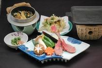 ラムと山菜料理