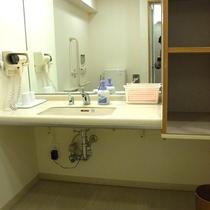バリアフリールームの洗面