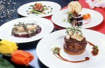 絶品のフランス料理フルコースディナー