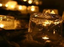 冬の夜に燈すアイスキャンドル