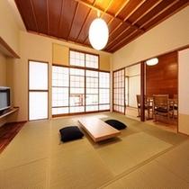 ■本館東棟リニューアル客室は広々ゆったり。お部屋食も4名様まで可能。