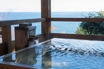 貸切露天風呂「光」海を見渡しながらごゆっくりご利用下さい。
