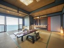 風月亭205号室のお部屋14帖+6帖(バス・トイレ付)ベッド常設