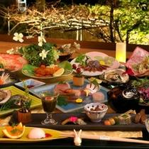 富山の宝が散りばめられた会席料理