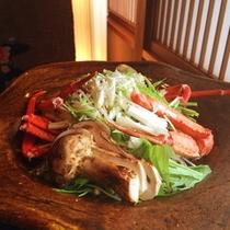 蟹と松茸の数奇焼き