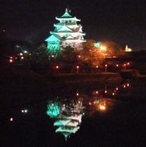 墨俣の一夜城☆桜のライトアップは圧巻です!!