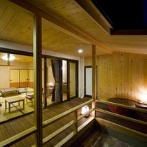 天然温泉の露天付き和室(禁煙):一例