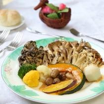 高原野菜のお料理