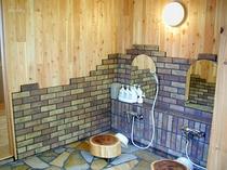 「ホタルの庭園」風呂 洗い場