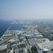 北側大阪方面お昼の景色