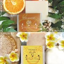 プラン特典。『オラン・ク・オラン』の化粧せっけん、オレンジとハニー(イメージ)