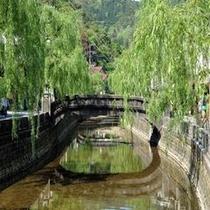 温泉街の景色(ザ・城崎温泉)