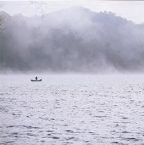 円山川の朝靄