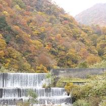 蓮華の湯からの秋の眺望