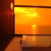 天空の湯に入りながらの夕日は最高です