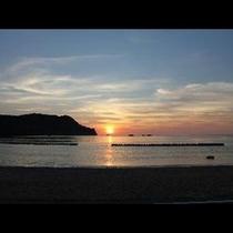 竹野の夕日