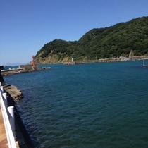 入舟前の景色