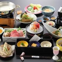 豆腐懐石 「冬の味覚拾い」 自家製豆腐と海山の旬菜の華やかな競演。