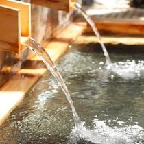 大浴場・露天風呂・貸切風呂は全て天然温泉掛け流し!