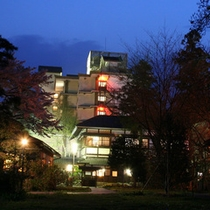 猿ヶ京ホテル本館の夜景