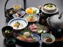 【島根ポーク陶板焼きと旬魚と冬野菜豆乳蒸しがメイン】冬のお手頃会席
