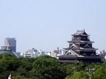 展望浴場からの広島城