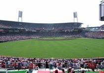 マツダズームズームスタジアム 平成21年完成なのできれいです。色々な種類のシートがあるのが特色