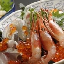 平日限定の海鮮丼お泊まりプランはお一人様も歓迎です!