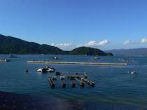 晴れた日の夏の海の深い青!